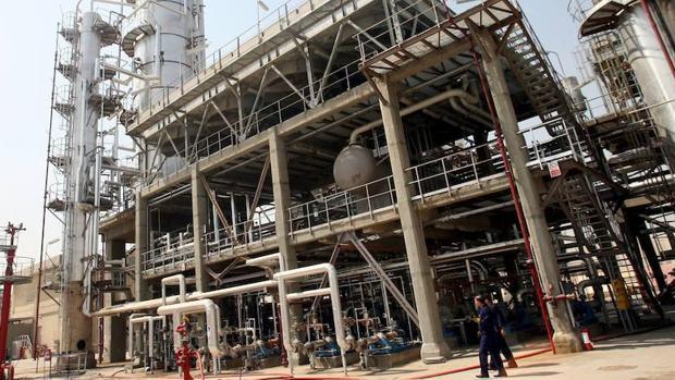 Una refinería de petróleo en Bagdad