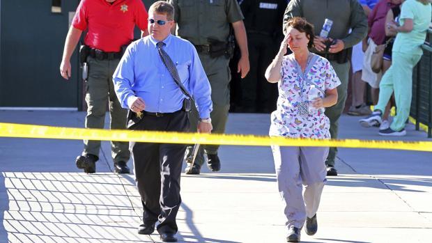 Exteriores de la escuela de Townville en la que se ha producido un tiroteo durante la jornada de este miércoles