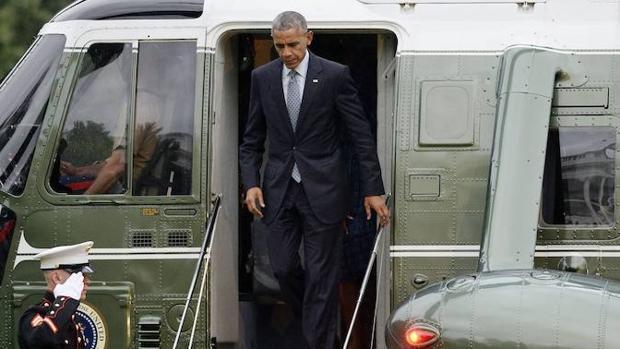 El presidente Barack Obama llega a la Casa Blanca