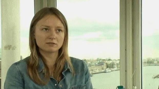 Janina Findeisen en una entrevista con la cadena alemana ARD