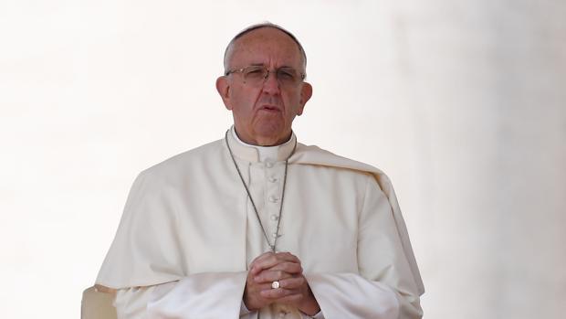 El Papa, durante una audiencia en el Vaticano