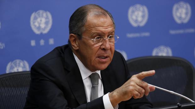 El ministro ruso de Exteriores, Serguéi Lavrov, comparece en la sede de la ONU en Nueva