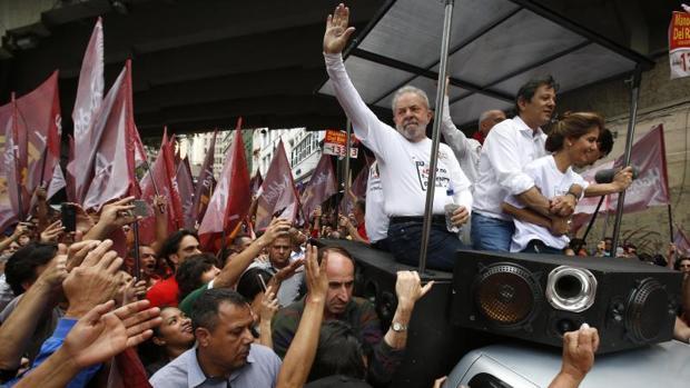 Lula da Silva hizo campaña por el Partido de los Trabajadores