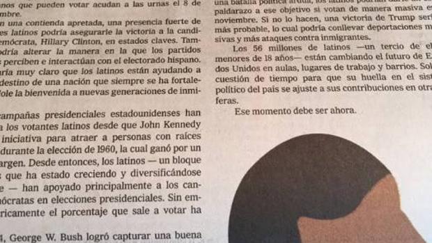 El editorial de «The New York Times» escrito en español y dirigido a los latinos