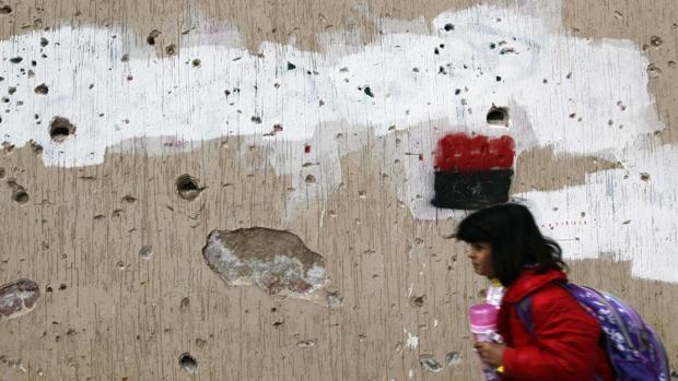 Restos de la ciudad de Sirte en 2012 tras los combates