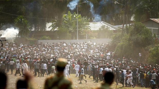 Parte de la manifestación en la región de Oromia