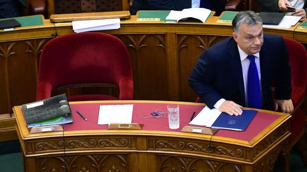 Orban, el lunes, en el Parlamento húngaro, se dispone a pronunciar un discurso