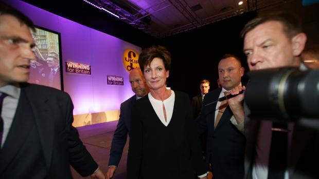 La ya exlíder de la UKIP tras la conferencia de su partido en Bournemouth