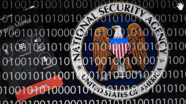 El logotipo de la Agencia de Seguridad Nacional de los Estados Unidos (NSA)