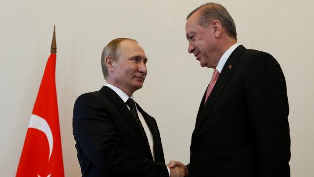 Putin y Erdogan, en su reunión de agosto