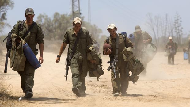 Imagen de 2014 de soldados israelíes cerca de la Franja de Gaza