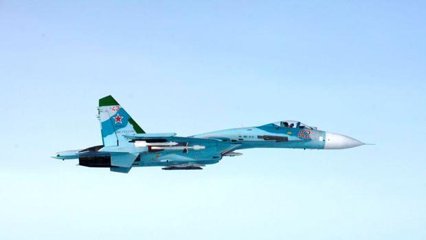 Avión ruso SU-27 que sobrevoló el espacio aéreo finlandés, cerca de Porvoo