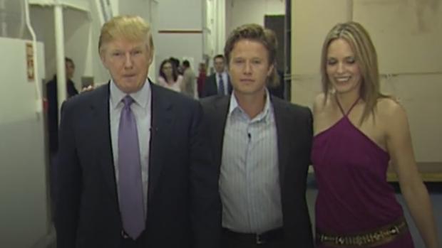 Donald Trump, a la izquierda, en una imagen del vídeo
