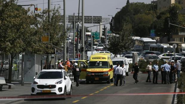 Fuerzas de seguridad israelíes tras el tiroteo