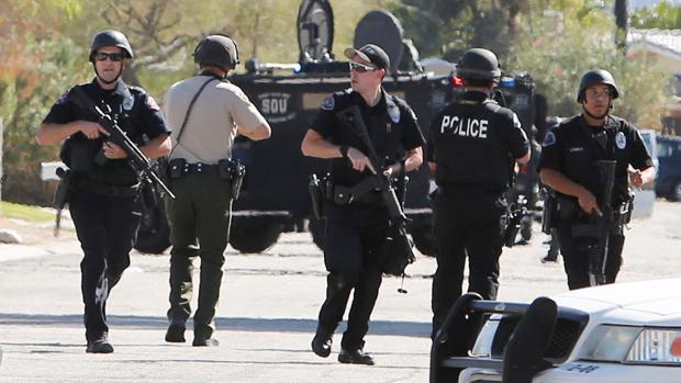 La Policía, en el lugar de los hechos