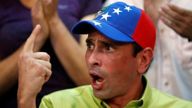 Henrique Capriles, durante un acto en Caracas el pasado mes de junio