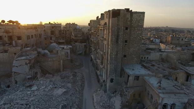 Estado en el que se encuentra actualmente la ciudad vieja de Alepo, tras los bombardeos del régimen