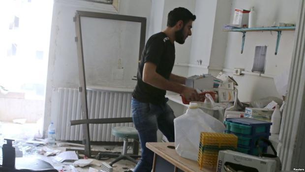 Imagen del hospital de Al-Quds, en Alepo, bombardeado el 28 de abril