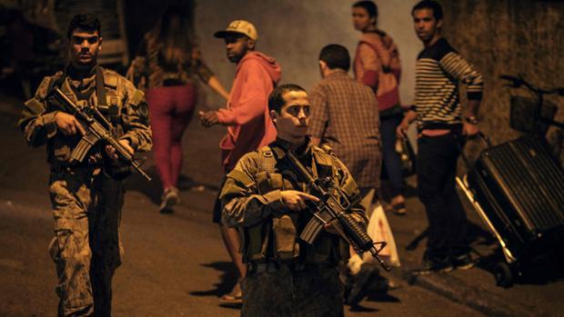 Un momento de la operación policial en Copacabana