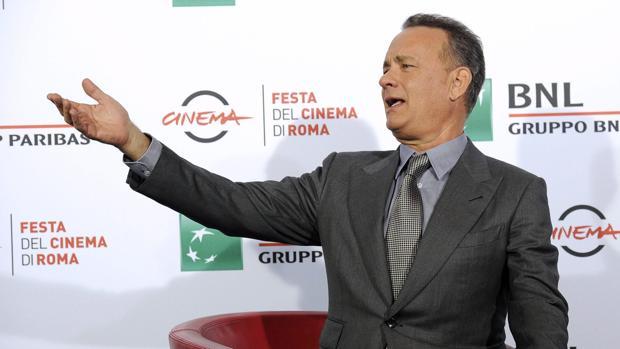 El actor estadounidense Tom Hanks posa en el Festival de Cine de Roma