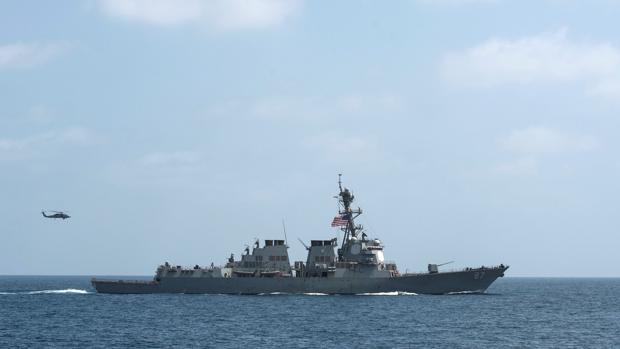 El USS Mason, durante unas maniobras en el Golfo de Omán