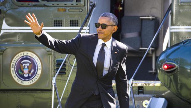 Obama aterriza en la Casa Blanca, Washington