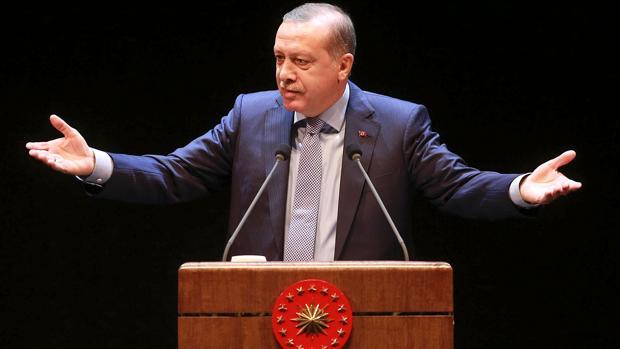 Erdogan, durante la ceremonia de sorteo de jueces y fiscales en el Centro Nacional de Bestepe Congreso y la cultura en Ankara esta semana
