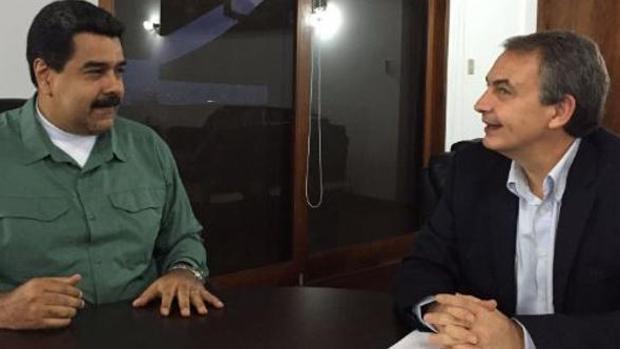 Zapatero y Maduro, reunidos en Venezuela