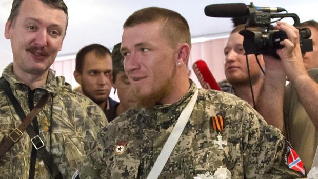 Arseni Pávlov, alias Motorola, en julio de 2014
