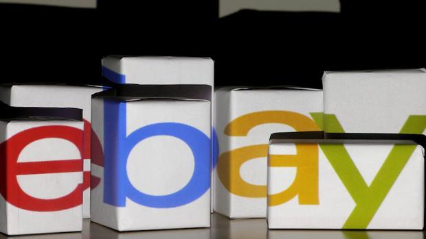 El logo del portal eBay, donde el refugiado colgó el anuncio para vender el bebé
