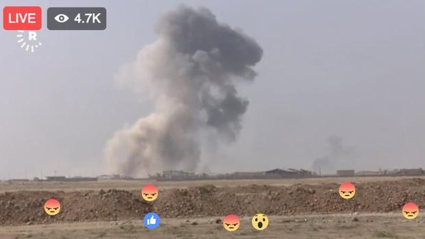 Facebook:  Mosul, la reconquista televisada por Facebook