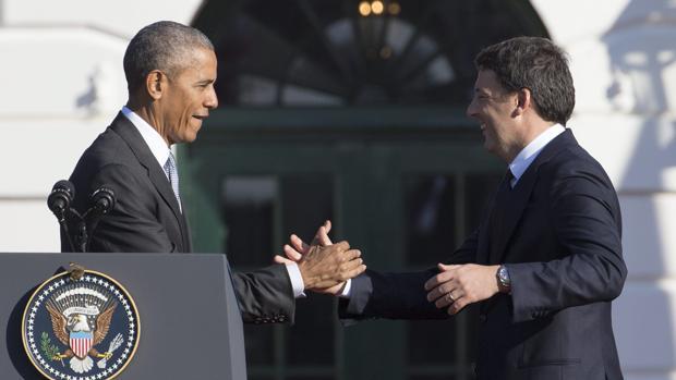 Obama recibe a Renzi en la Casa Blanca