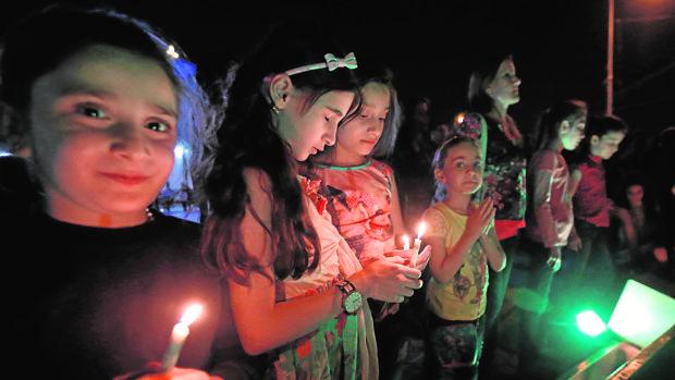 Celebración cristiana en Erbil por la caída de Qaraqosh