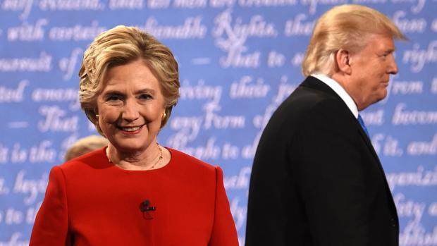 Hillary Clinton y Donald Trump se verán de nuevo las caras. En la imagen, en el primero debate