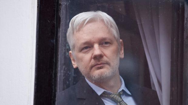 Julian Assange, en la Embajada de Ecuador en Londres