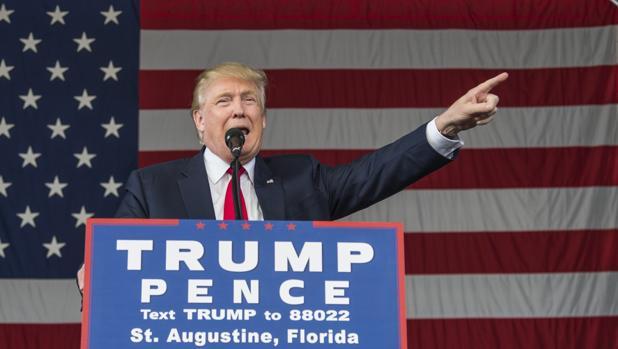 El candidato republicano, Donald Trump, durante su intervención en San Agustión, en Florida