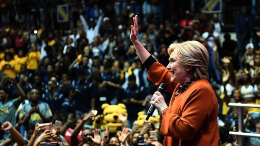 Hillary Clinton, esta semana en un acto de campaña en Carolina del Norte