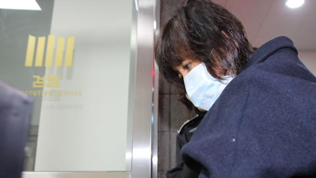 Choi Soon-sil, al llegar a declarar