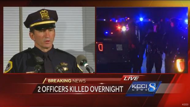 El sargento Paul Parizek, portavoz de la policía de Des Moines, en una cadena de televisión local tras los ataques