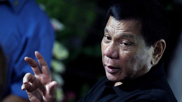 Rodrigo Duterte, durante una conferencia