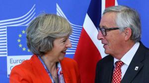 May ratifica a Juncker que activará la salida de la UE en marzo
