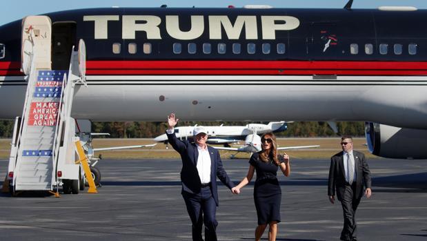 Trump y su esposa Melania, este sábado