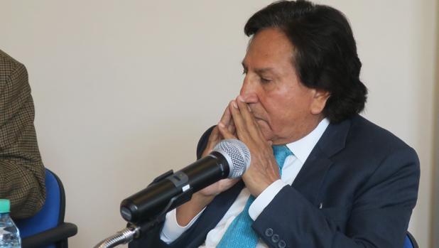 El expresidente peruano Alejandro Toledo, durante la presentación de su libro en la Universidad Torcuato di Tella de Buenos Aires