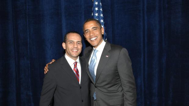 Juan Verde, junto a Barack Obama en 2011