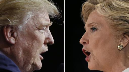 El candidato republicano, Donald Trump, y la democráta, Hillary Clinton