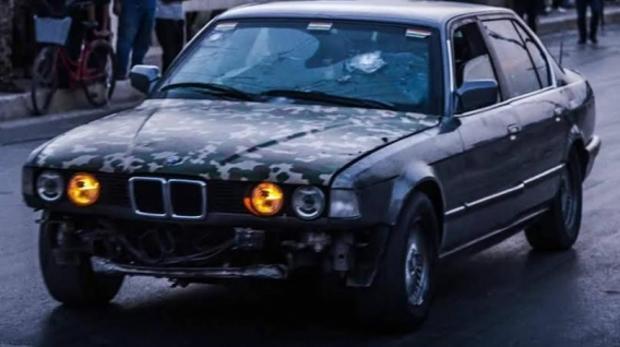 El BMW utilizado por el soldado kurdo para salvar a los heridos