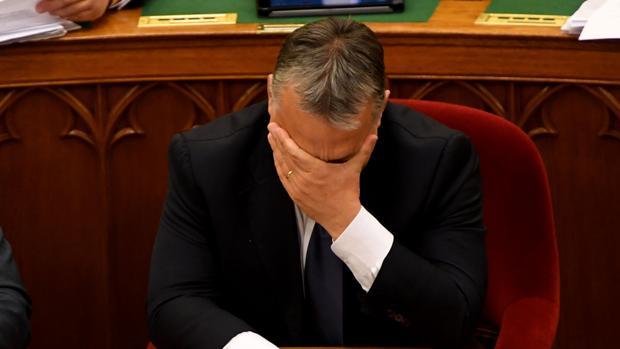 El primer ministro húngaro, en el Parlamento en Budapest