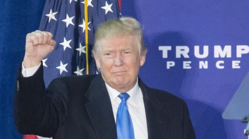 El candidato republicano, Donald Trump, en un acto de campaña en Virginia