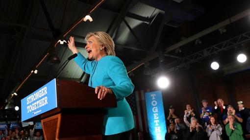 La aspirante demócrata a la Casa Blanca, Hillary Clinton, en New Hampshire