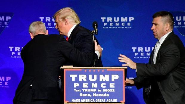 Imagen de Trump durante un acto electoral en Nevada